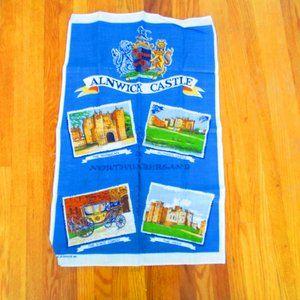 Vintage British Tea Towel NEW Alnwick Castle